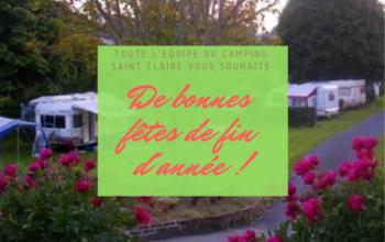 Toute l'équipe du Camping Sainte-Claire vous souhaite de bonnes fêtes de fin d'année !